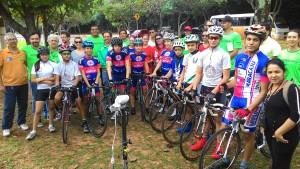 ciclistas e organização dos JEMS